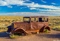 Old Rusting Car on Route 66 print