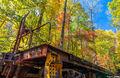 stumphouse tunnel, south carolina, fall colors