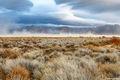 black rock desert, nevada, windy day