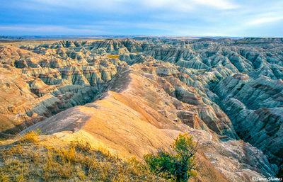 the badlands national park, south dakota,