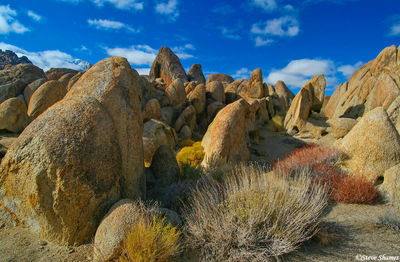 alabama hills, owens valley, california, rocky scene
