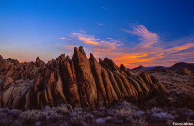 alabama hills sunrise, owens valley, california