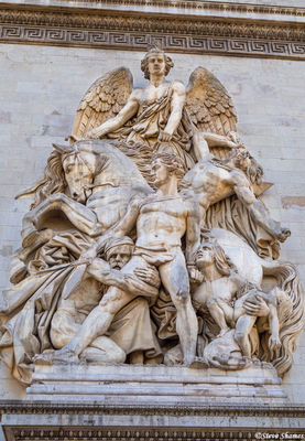 arc de triomphe sculptures, paris, france