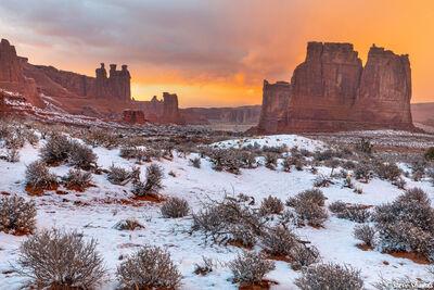 arches national park sunset, utah