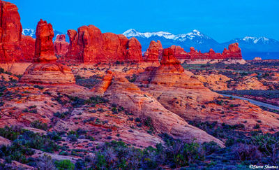 arches national park, utah, sunset