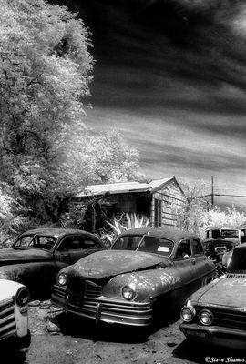 rural sacramento county, california, backyard junkyard