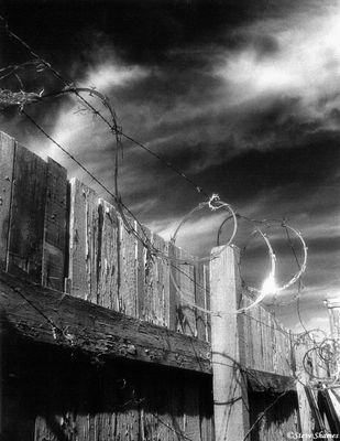 rural sacramento county, california, barbed wire