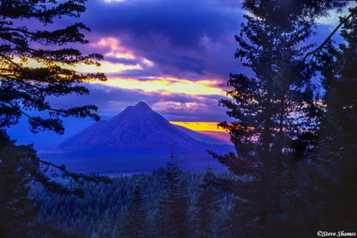 mt. shasta, northern california, black butte, sunset