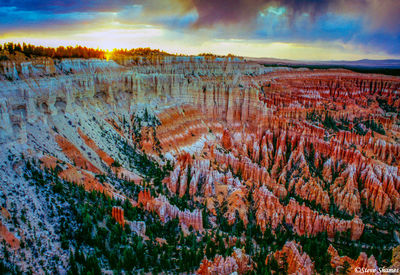 bryce canyon sunset, national park, utah