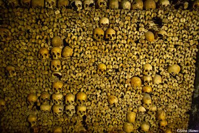 les catacombes de paris, france, human remains