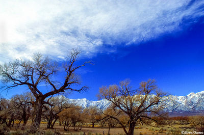 lone pine, eastern california, sierras, clouds