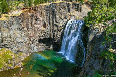 devils postpile, national monument, california, rainbow falls