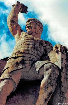 guanajuato, mexico, el papila, statue