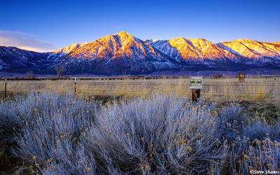 minen nevada, high sierras, first light