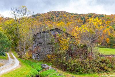 north georgia mountains, old barn, rural scene