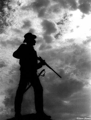 gettysburg national military park, statue, pennsylvania