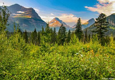 glacier national park, montana, mountain vistas