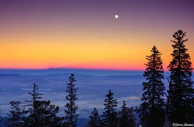 baker, nevada, great basin national park, desert sunsets, full moon