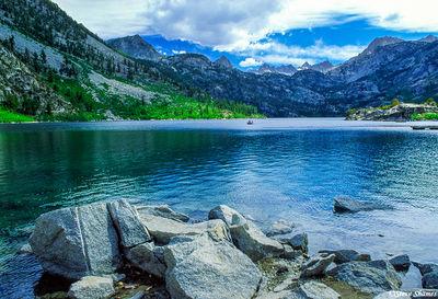 sierra nevada mountains, alpine lake,