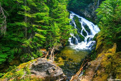 sandpoint, idaho, beautiful waterfall