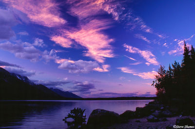 grand teton national park, wyoming, jenny lake, sunset