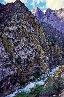 kings canyon, national park, rocky peaks