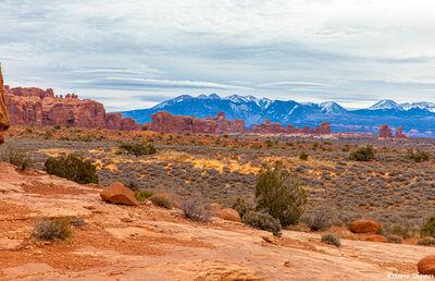 la sal mountains, arches national park, utah