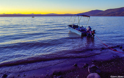 lake almanor, twilight, northern california