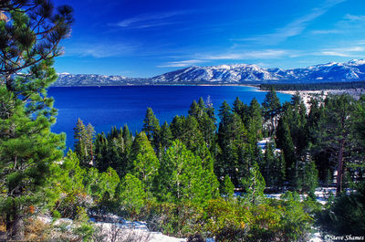 lake tahoe, jewel of the sierras, bluest waters