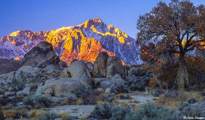 alabama hills, eastern california, lone pine peak, mt. whitney
