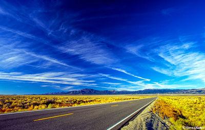highway 50, nevada, The loneliest road in America, big sky