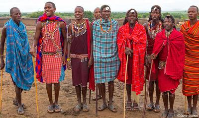 maasai village, kenya,