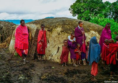 ngorongoro crater, tanzania, maasai village