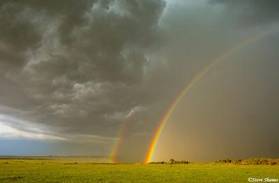 masai mara, maasai, kenya, double rainbow