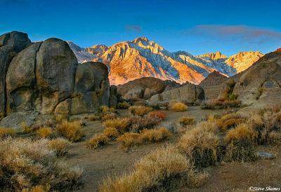 alabama hills, owens valley, california, mt. whitney, lone pine peak