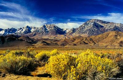 sierra nevada mountains, owens valley, bishop