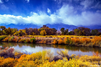 bishop, california, mountains in clouds