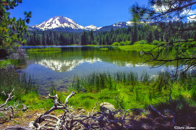 mount lassen, national park, california, manzanita lake