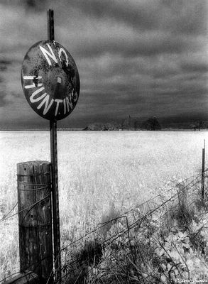 rural sacramento county, california, no hunting sign