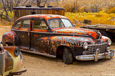 benton hot springs, eastern california, old car