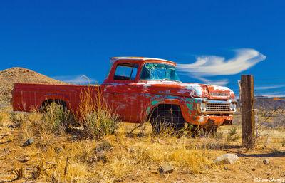 route 66, arizona, junked vehicle, old truck