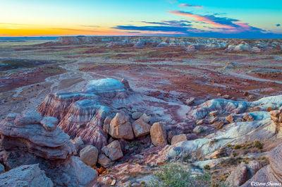 painted desert, national park, arizona, colorful sunset