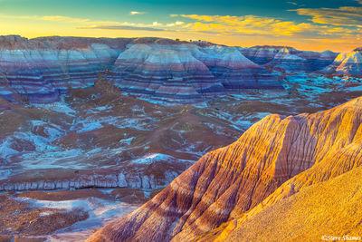 painted desert sunset, national park, arizona