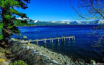 lake tahoe, private pier