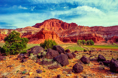 capitol reef, national park, utah, red rock country