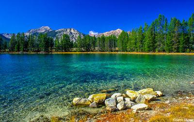 redfish lake, idaho, mountain lake, clear waters
