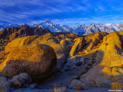 alabama hills, california, big boulders, sierras