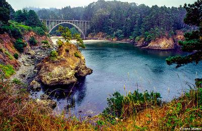 russian gulch state park, mendocino county, california