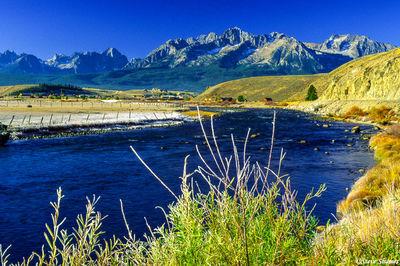 stanely, idaho, salmon river, sawtooth mountains