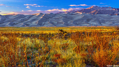 great sand dunes, national park, colorado, sunset